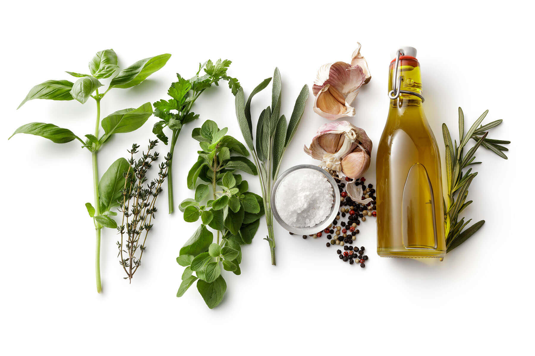 Ingredients on a white background